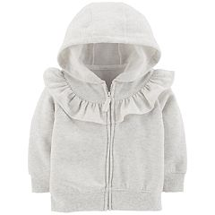 Baby Girl Carter's Ruffled Zip Cardigan