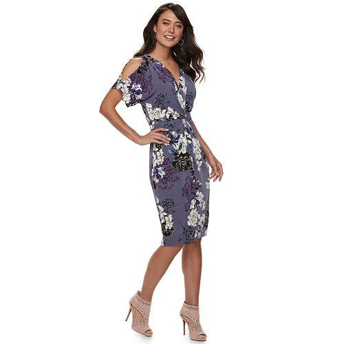 Women's Jennifer Lopez Kimono Midi Dress
