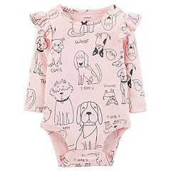 Baby Girl Carter's Ruffled Graphic Bodysuit