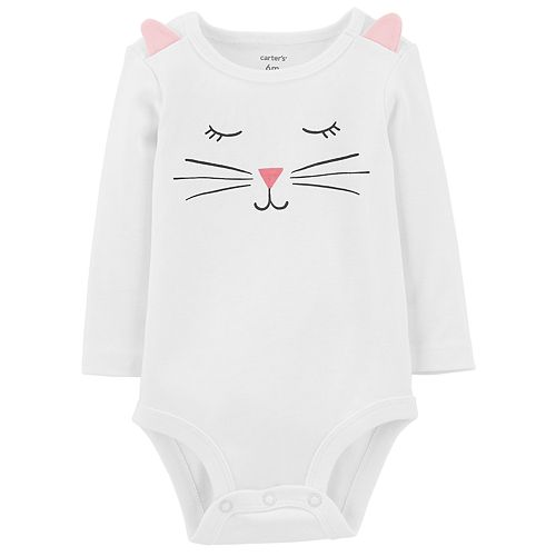 Baby Girl Carter's Face Bodysuit