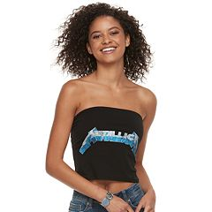 Juniors' THE PRINT SHOP Metallica Tube Top