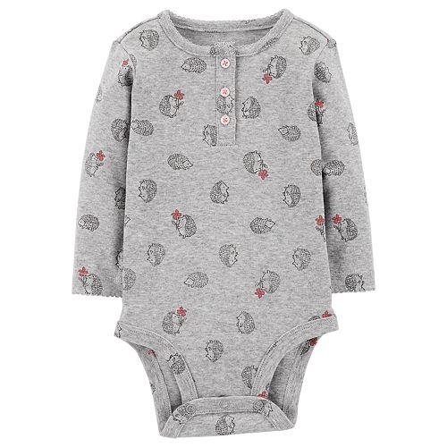 Baby Girl Carter's Long Sleeve Printed Bodysuit