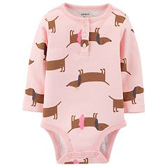 Baby Girl Carter's Long Sleeve Printed Bodysuit