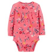 Baby Girl Carter's Floral Shirred Bodysuit