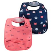 Baby Girl Carter's 2 Pack Pocket Bib Set