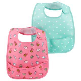 Baby Girl Carter's 2 Pack Pocket Bib Set