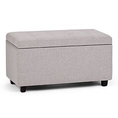 Simpli Home Cosmopolitan Medium Storage Ottoman