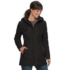 Women's Weathercast Hooded Quilted Anorak Walker Jacket