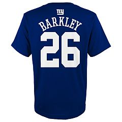 Boys 4-18 New York Giants Saquon Barkley Name & Number Tee