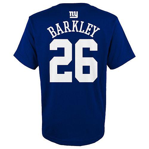 Boys 4-18 New York Giants Saquon Barkley Name & Number Tee