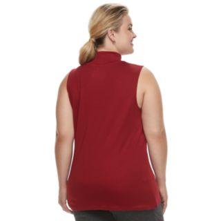Plus Size Croft & Barrow® Sleeveless Mock Neck Top