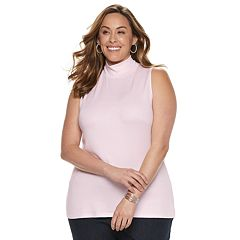 Plus Size Croft & Barrow® Sleeveless Mock Neck Top