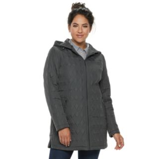 Women's Weathercast Modern Hooded Quilted Anorak Jacket