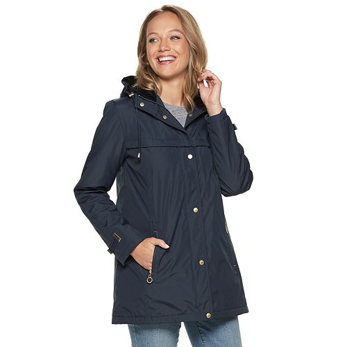Women's Weathercast Hooded Bonded Rain Jacket