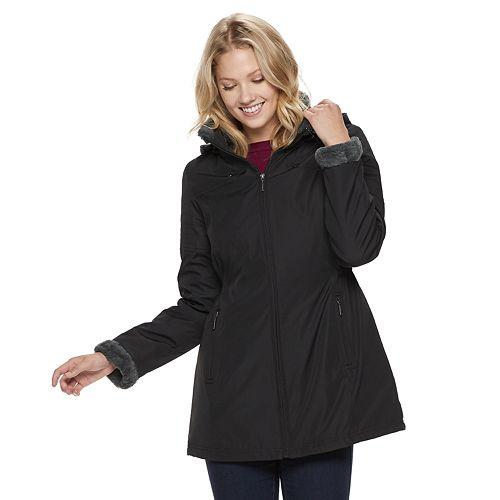 Women's Weathercast Hooded Anorak Storm Coat