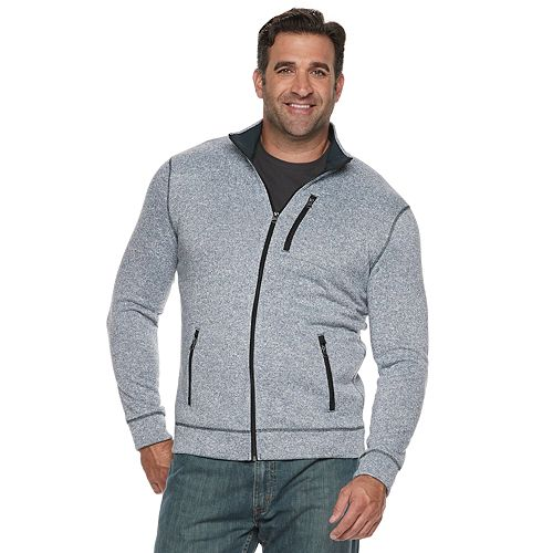 49df2970364 Big   Tall SONOMA Goods for Life™ Modern-Fit Supersoft Sweater Fleece  Full-Zip Jacket