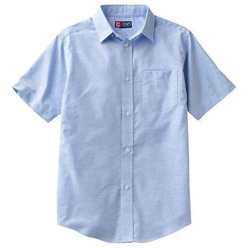 Boys 4-20 Chaps School Uniform Solid Oxford Button-Down Shirt