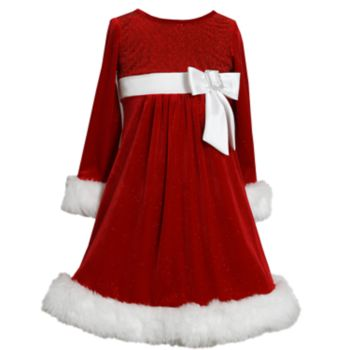 Girls 4-6x Bonnie Jean Glittery Velvet Dress