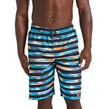 Men's Nike Block Stripe Breaker 11-inch Volley Swim Trunks