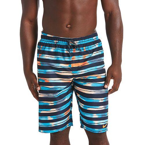 Men's Nike Block Stripe Breaker 11-inch Volley Swim Trunks