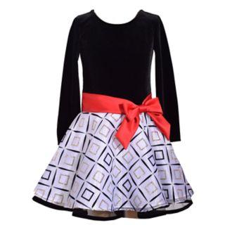 Girls 4-6x Bonnie Jean Geometric Velvet Dress