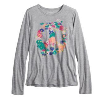 Girls 7-16 & Plus Size Mudd® Long Sleeve Graphic Tee