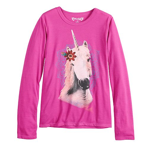 7b2f474b0aae2 Girls 7-16   Plus Size Mudd® Long Sleeve Graphic Tee