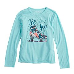 f7232582aaac Girls Green T-Shirts Kids Long Sleeve Tops, Clothing | Kohl's
