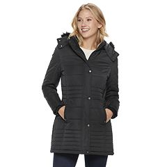 Women's Weathercast Hooded Heavyweight Anorak Quilted Jacket