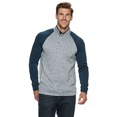 Big & Tall SONOMA Goods for Life™ Modern-Fit Supersoft Sweater Fleece Mockneck Pullover