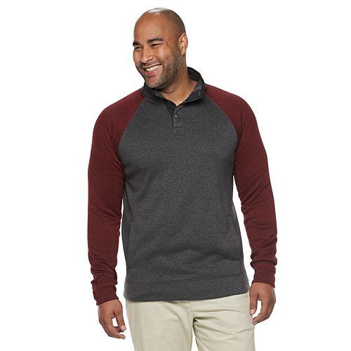 Big & Tall SONOMA Goods for Life™ Supersoft Sweater Fleece Mockneck Pullover