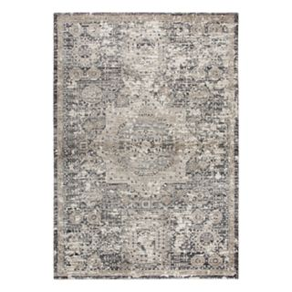 Rizzy Home Panache Traditional Central Medallion Distressed Geometric Rug