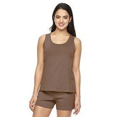 Plus Size Jockey Pajamas: Tank & Shorts Pajama Set