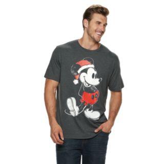 Big & Tall Disney Mickey Mouse Santa Tee