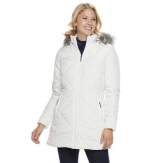 Women's Weathercast Hooded Diamond-Quilted Puffer Jacket