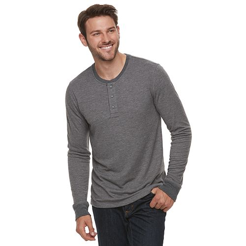 Men's SONOMA Goods for Life™ Double-Knit Henley Tee