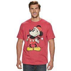 Big & Tall Mickey Mouse Santa Holiday Tee