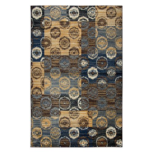 Rizzy Home Xceed Transitional Patchwork Ikat Distressed Geometric Rug