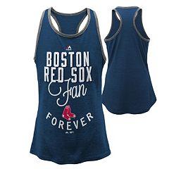 Girls 7-16 Majestic Boston Red Sox Fan Forever Racerback Tank Top