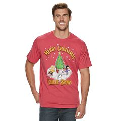 big tall peanuts merry christmas charlie brown holiday tee