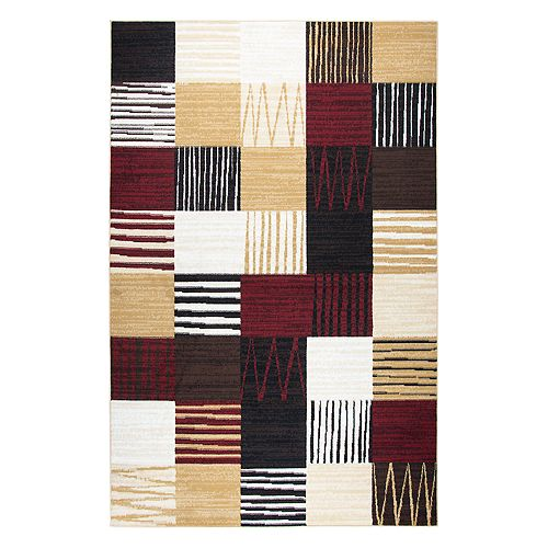 Rizzy Home Xcite Transitional Patchwork II Geometric Rug