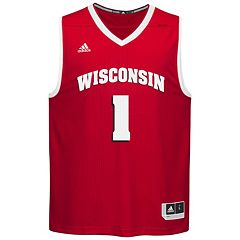 Men's adidas Wisconsin Badgers Replica Basketball Jersey