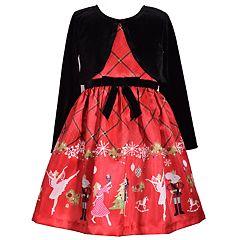 Girls 4-6x Bonnie Jean Ballet Dress & Velvet Shrug Set