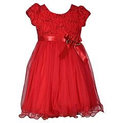Girls 4-6x Bonnie Jean Lace Tulle Dress