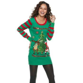"Juniors' ""Dabbing Around The Christmas Tree"" Holiday Tunic"