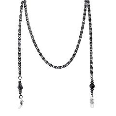 1928 Black Bead Eyeglass Chain