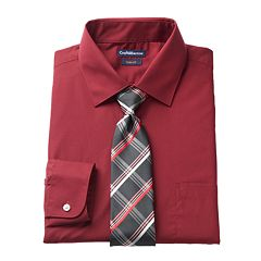 Men's Croft & Barrow® Slim-Fit Stretch-Collar Dress Shirt and Patterned Tie