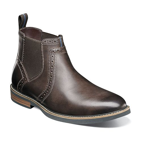Nunn Bush Otis Men's Plain Toe Dress Chelsea Boots
