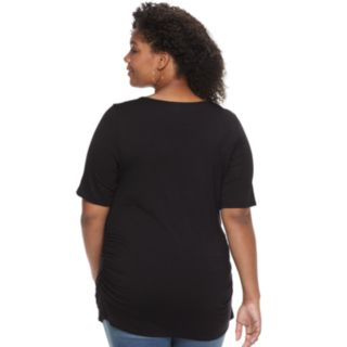 Plus Size Maternity a:glow Ruched Tee
