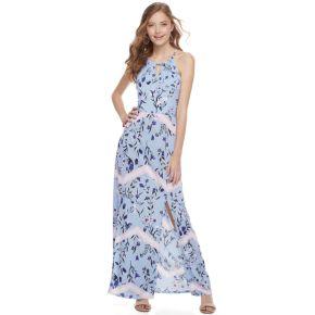 Juniors' Candie's® Print Halter Maxi Dress